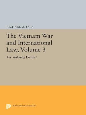 cover image of The Vietnam War and International Law, Volume 3