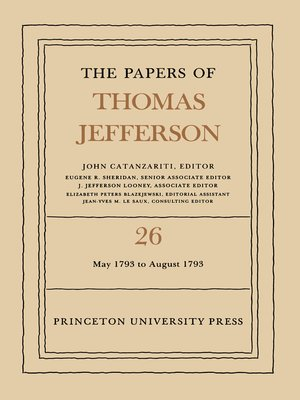 cover image of The Papers of Thomas Jefferson, Volume 26