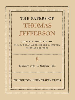 cover image of The Papers of Thomas Jefferson, Volume 8