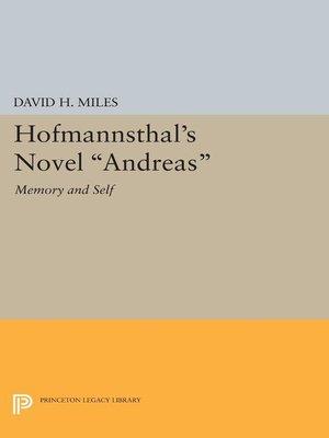 princeton essays in literature series · rakuten  hofmannsthal s novel andreas princeton essays in literature series