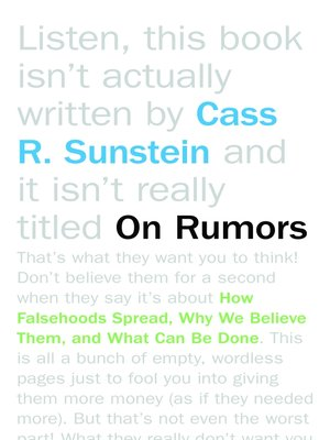 cover image of On Rumors