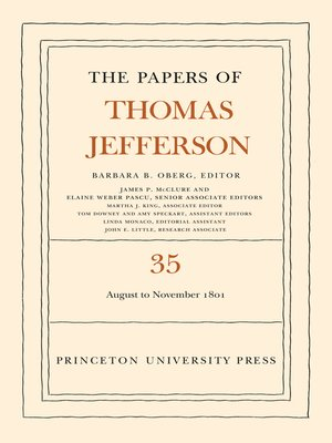 cover image of The Papers of Thomas Jefferson, Volume 35