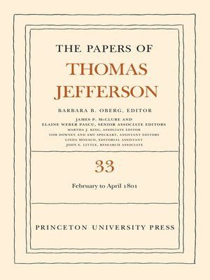 cover image of The Papers of Thomas Jefferson, Volume 33