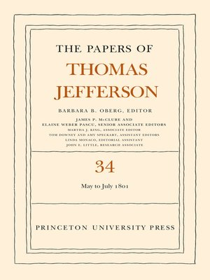cover image of The Papers of Thomas Jefferson, Volume 34