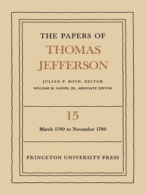 cover image of The Papers of Thomas Jefferson, Volume 15