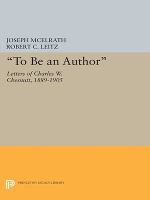 """cover image of """"To Be an Author"""""""