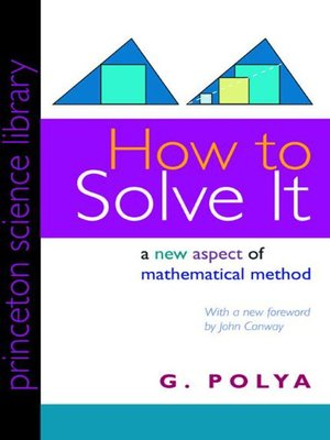 cover image of How to Solve It