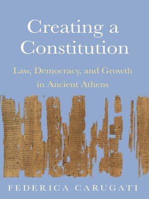 cover image of Creating a Constitution