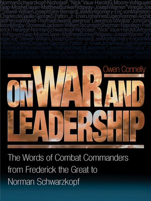 cover image of On War and Leadership