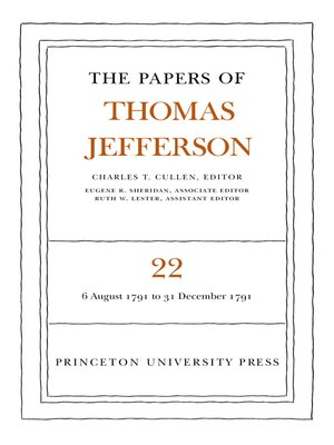 cover image of The Papers of Thomas Jefferson, Volume 22