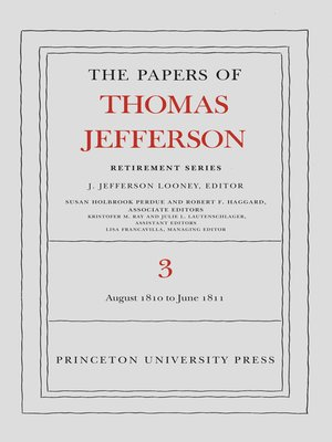 cover image of The Papers of Thomas Jefferson, Retirement Series, Volume 3