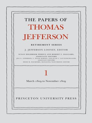 cover image of The Papers of Thomas Jefferson, Retirement Series, Volume 1