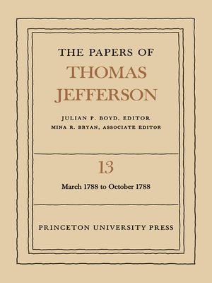 cover image of The Papers of Thomas Jefferson, Volume 13