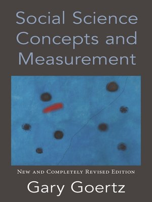 cover image of Social Science Concepts and Measurement