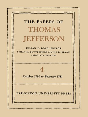 cover image of The Papers of Thomas Jefferson, Volume 4
