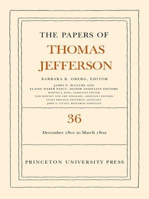 cover image of The Papers of Thomas Jefferson, Volume 36