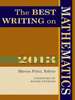 cover image of The Best Writing on Mathematics 2013