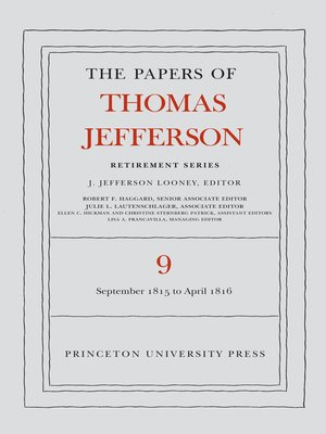 cover image of The Papers of Thomas Jefferson, Retirement Series, Volume 9