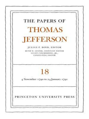 cover image of The Papers of Thomas Jefferson, Volume 18