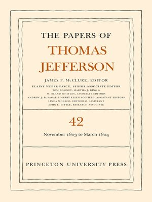 cover image of The Papers of Thomas Jefferson, Volume 42