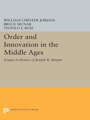cover image of Order and Innovation in the Middle Ages