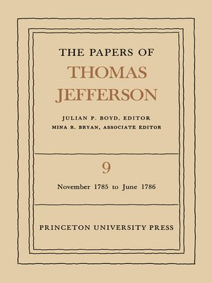 cover image of The Papers of Thomas Jefferson, Volume 9