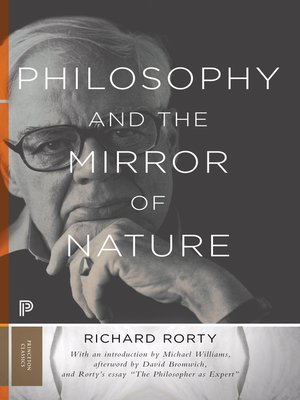 cover image of Philosophy and the Mirror of Nature