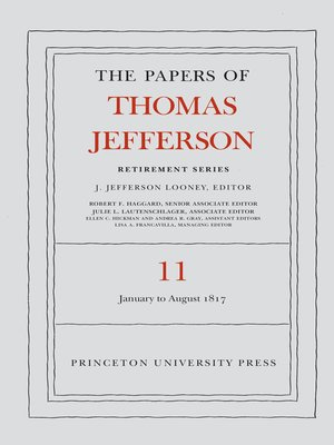 cover image of The Papers of Thomas Jefferson, Retirement Series, Volume 11