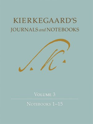 cover image of Kierkegaard's Journals and Notebooks, Volume 3