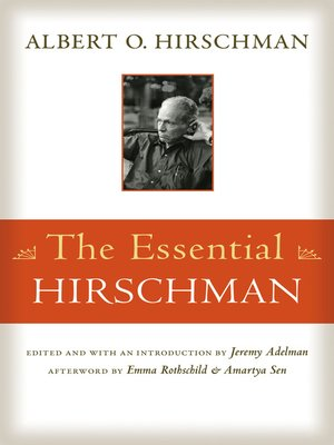 cover image of The Essential Hirschman