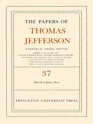 cover image of The Papers of Thomas Jefferson, Volume 37