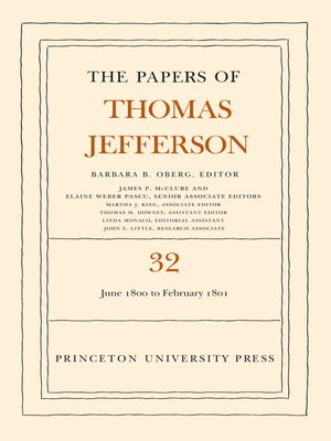 cover image of The Papers of Thomas Jefferson, Volume 32