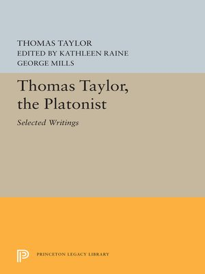 cover image of Thomas Taylor, the Platonist