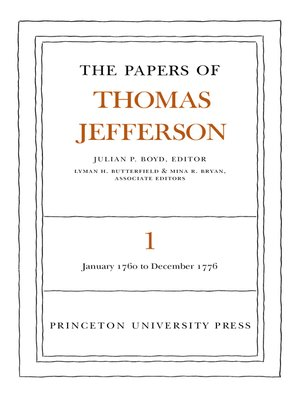 cover image of The Papers of Thomas Jefferson, Volume 1