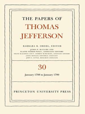 cover image of The Papers of Thomas Jefferson, Volume 30