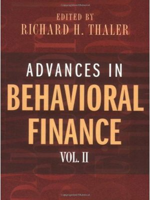cover image of Advances in Behavioral Finance, Volume II
