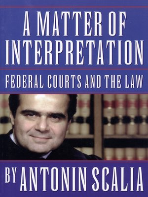 cover image of A Matter of Interpretation