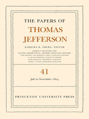 cover image of The Papers of Thomas Jefferson, Volume 41