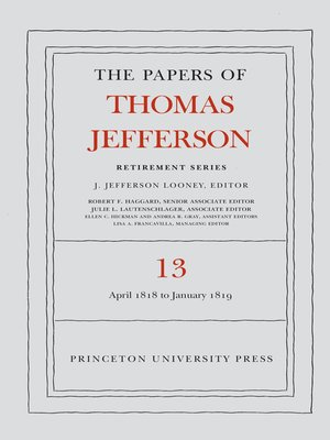 cover image of The Papers of Thomas Jefferson: Retirement Series, Volume 13