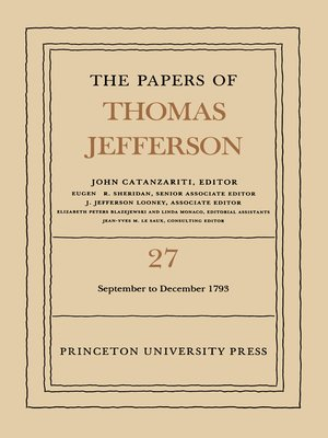 cover image of The Papers of Thomas Jefferson, Volume 27