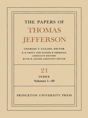 cover image of The Papers of Thomas Jefferson, Volume 21