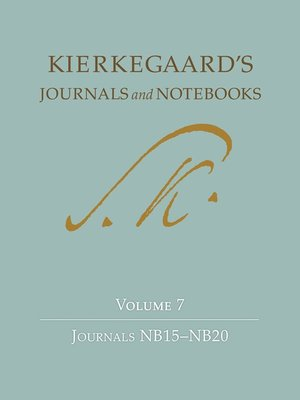 cover image of Kierkegaard's Journals and Notebooks, Volume 7