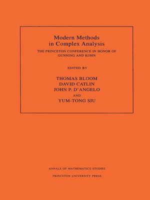cover image of Modern Methods in Complex Analysis (AM-137), Volume 137