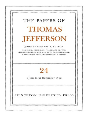 cover image of The Papers of Thomas Jefferson, Volume 24