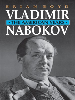 cover image of Vladimir Nabokov, The American Years
