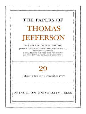 cover image of The Papers of Thomas Jefferson, Volume 29