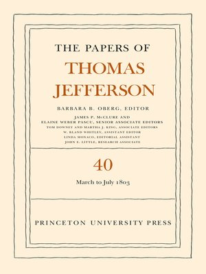 cover image of The Papers of Thomas Jefferson, Volume 40