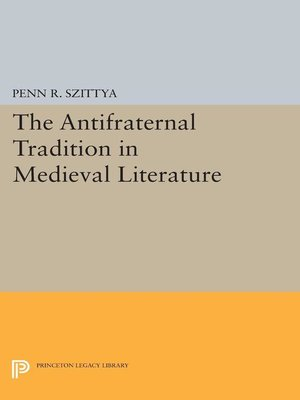 cover image of The Antifraternal Tradition in Medieval Literature