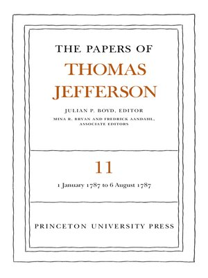 cover image of The Papers of Thomas Jefferson, Volume 11