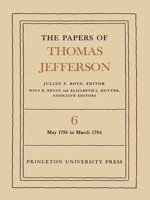 cover image of The Papers of Thomas Jefferson, Volume 6